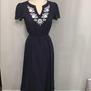 Kate & Mallory Navy long dress sz XS